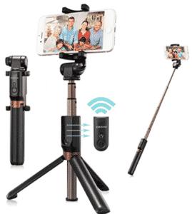 screenshot of eocean selfie stick in various modes