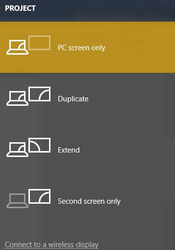 screenshot of various screen projections