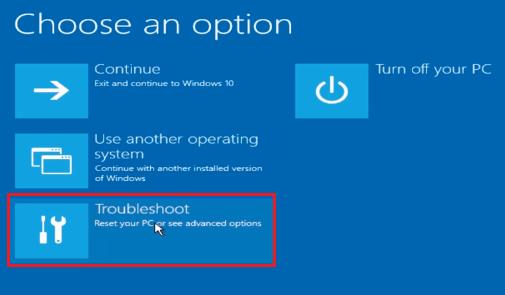 windows screenshot showing repair options