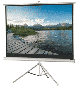 screen with a tripod stand