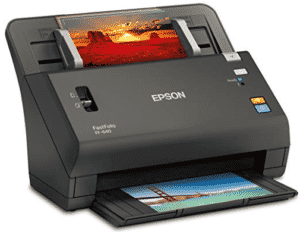 front view of epson scanner