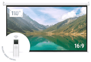 image of projector-screen showing landscape