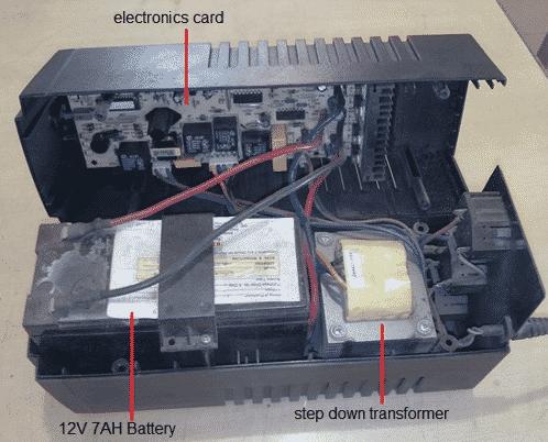 internal view of UPS