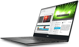 lateral view of Dell laptop