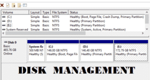 What is disk management