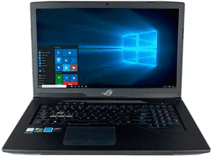 Front image of asus laptop