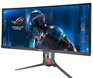 curved-monitor showing games