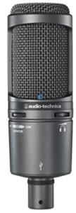 closeup image of audio-technica Microphone