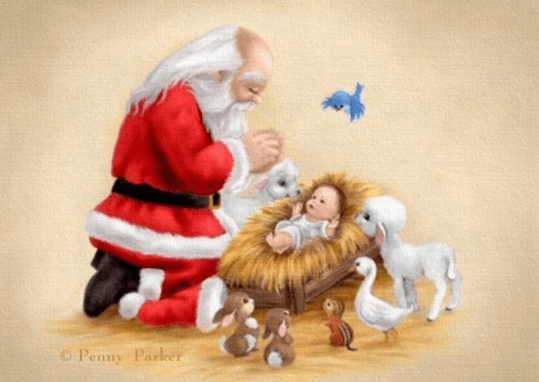 child-jesus with santa clause