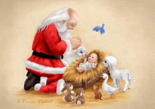 child-jesus with santa clause