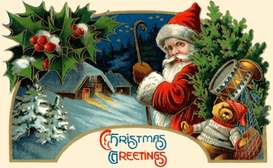 image showing santa with a stick