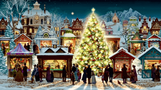 people enjoying christmas in the wallpaper