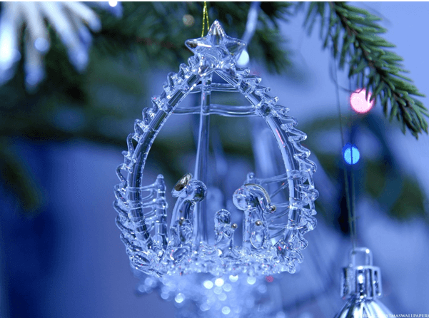 ornament with blue background