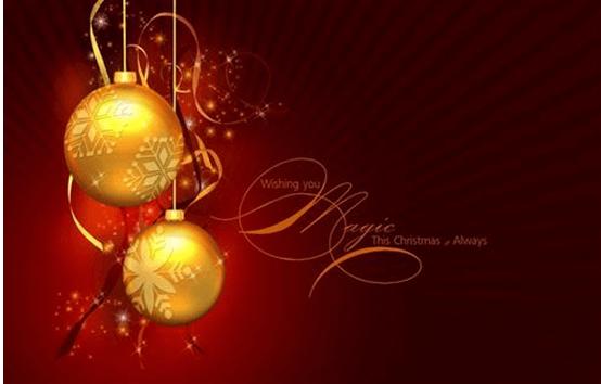 background image showing golden balls