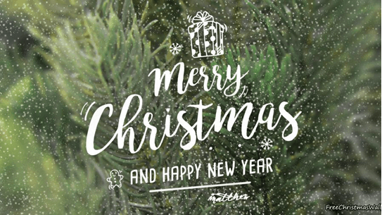 happy new year and merry christmas with green background