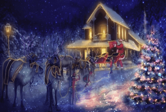 wallpaper showing santas-departure