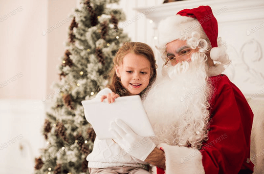 santa clause with a child