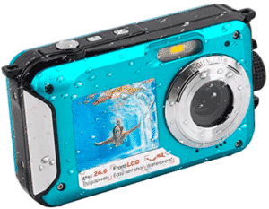 image of blue colored digital camera