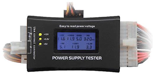 image of HDE-make power supply tester