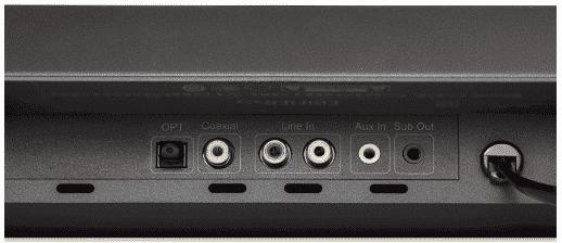 soundbar with sound ports