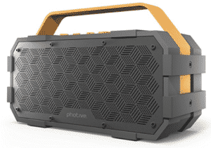 Wireless speakers with yellow handle