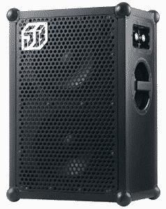 soundboks speaker showing settings on sideways