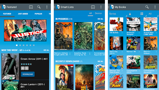three screenshots of dc comics