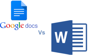 difference between google docs and Microsoft word