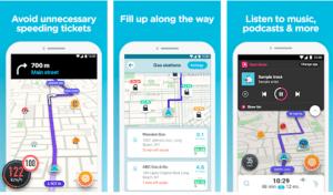 screenshot of radar detector mobile app