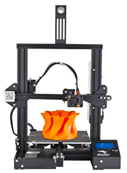 Image showing 3D printer printing a orange prototype