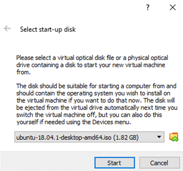 screenshot showing a step to create startup disk