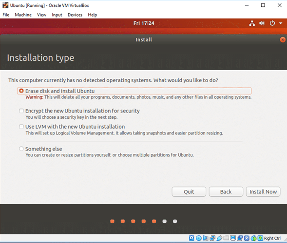 ubuntu installation process in windows 10