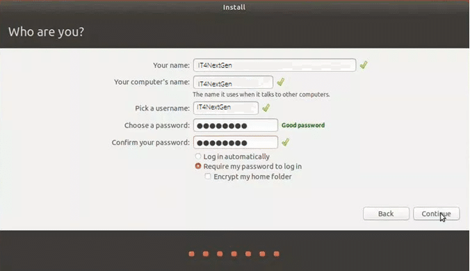 image showing credential form