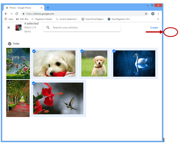 image showing different images to select