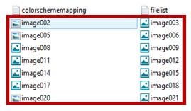 screenshot showing image listing
