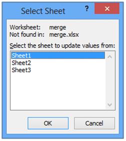 sheet selection options