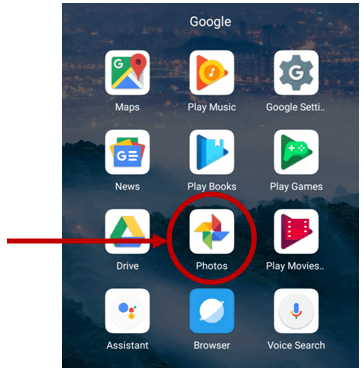 google photos android app