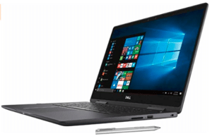 image of side view of Dell Inspiron laptop