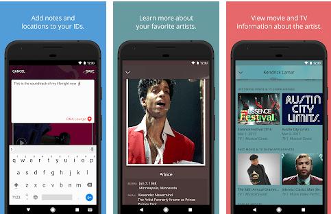 image of song identifier app