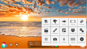 image of fimic pro app to record videos