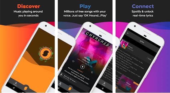 screenshot of song identifier app