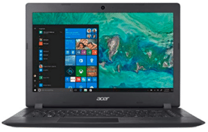 front view of Acer laptop under 500