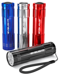 image of colorful flashlights