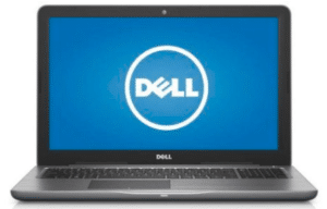 Front view of Dell inspiron laptop