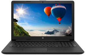 front view of HP laptop