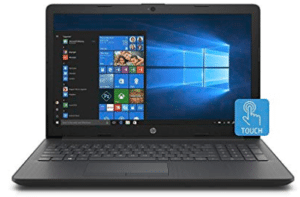 image of HP touchscreen laptop