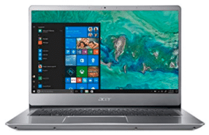 image of Acer swift laptop