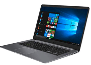 Lateral View of Asus laptop