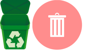 logo of recycle-bin apps android