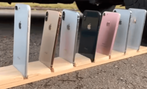 old iphones on display to sell
